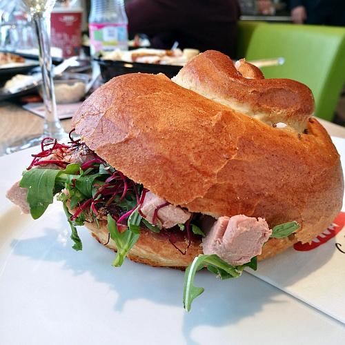 A legkedvesebb szendvicsem: kacsamájas briós (remélem örökre a kínálatban marad)