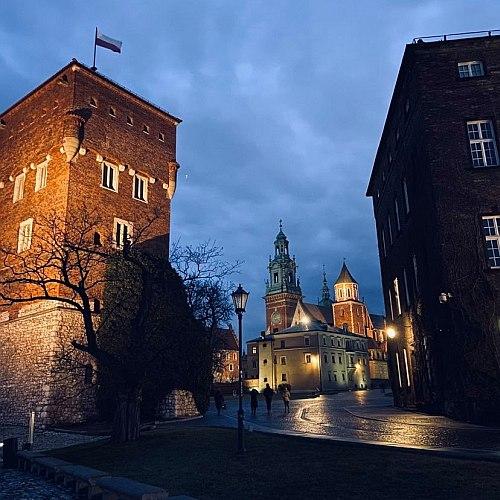Esti fények a Wawelben