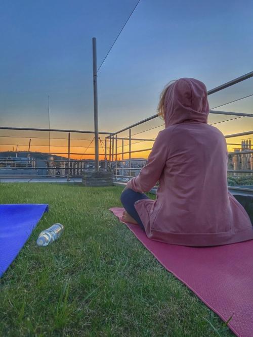 Látkép jóga után